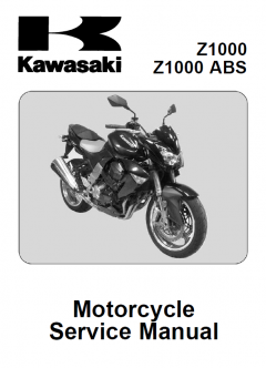 repair manuals Kawasaki Z1000, Z1000 ABS Motorcycles Service Manual PDF