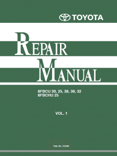 repair manuals Toyota 8FBCU, 8FBCHU Series Electric Powered Forklifts Repair Manual PDF