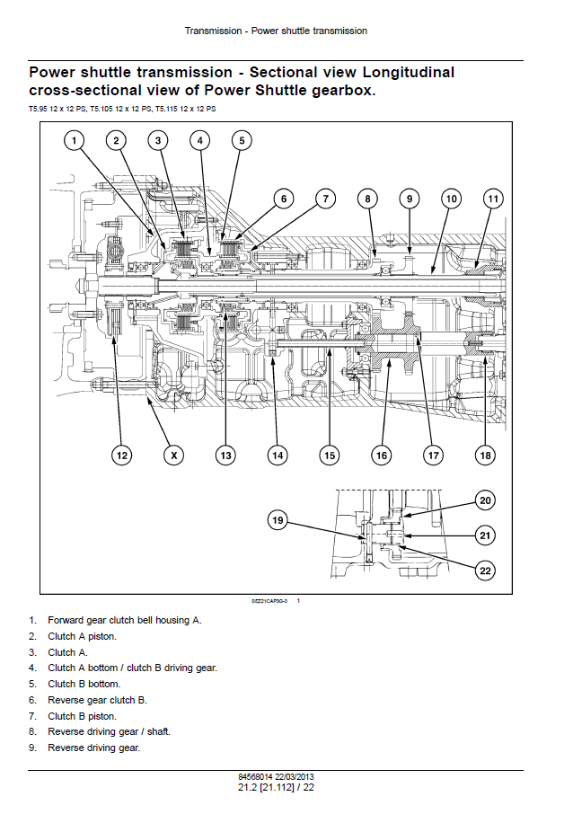 New Holland T5 95  T5 105  T5 115 Tractor Service Manual Pdf