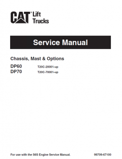 repair manuals Caterpillar DP60, DP70 Forklifts Service Manuals PDF