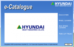 spare parts catalogs Hyundai Heavy Industries e-Catalogue (Hyundai Robex 2015)