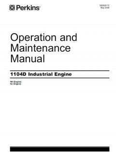 repair manuals Perkins 1104D Industrial Engine NH & NJ Operation & Maintenance Manual PDF