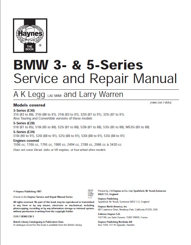 BMW 5 Series User Manuals Download | BMW Sections