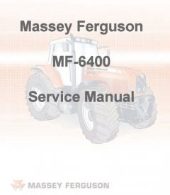 repair manuals Massey Ferguson Tractors MF-6400 Series Service Manual PDF