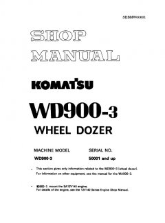 repair manuals Komatsu WD900-3 Wheel Dozer Shop Manuals PDF