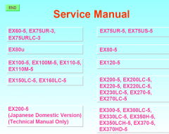 repair manuals Hitachi Hydraulic Excavators Workshop Service Manual