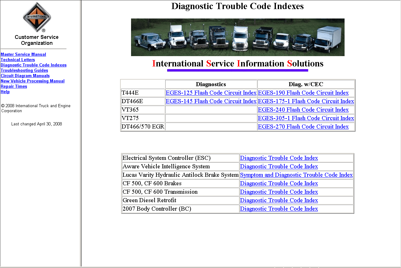 International Truck Parts Online Catalog