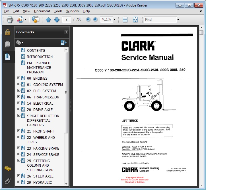 clark service manual c 500 y 180 200 225 s 225 l 250 s 250 l 300 l 350 clark c500 wiring diagram pdf clark forklift wiring diagram  at bayanpartner.co