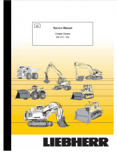 repair manuals Liebherr PR 712-752 Crawler Dozers Service Manual PDF