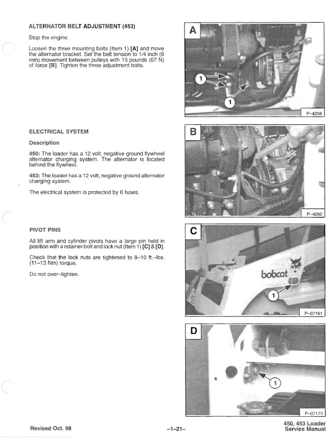 Western Auto Sales >> Bobcat 450 & 453 Skid Steer Loader Service Manual PDF