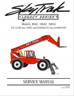 repair manuals JLG SkyTrak Telehandlers 8042-10042-10054 ANSI Service Manual PDF