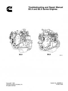repair manuals Cummins B3.9, B5.9 Series Engines Troubleshooting And Repair Manual PDF