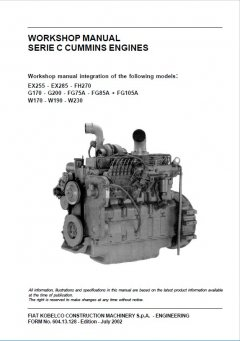 repair manuals Cummins C Series Engines Workshop Manual PDF