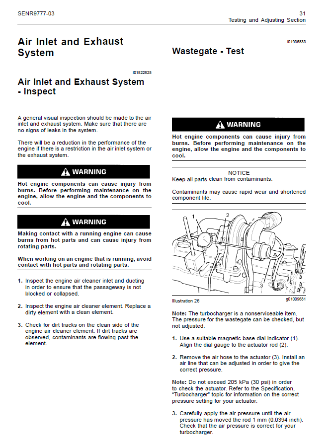 Perkins Engines 1103, 1104C Systems Operation Testing and