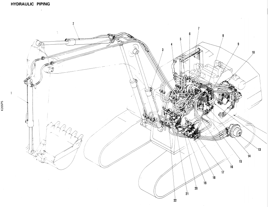 Komatsu Hydraulic Excavator PC210-5, PC240-5 Shop Manual PDF