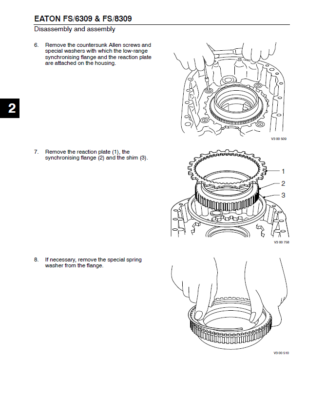 DAF Eaton Transmission FS series Components and Service PDF