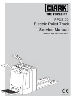 repair manuals Clark Electric Pallet Truck PPXS20 Service Manual