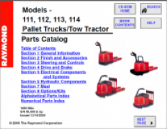 spare parts catalogs Raymond forklift