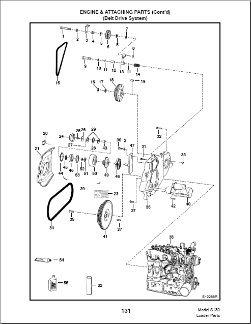 bobcat 610 parts diagram bobcat s130