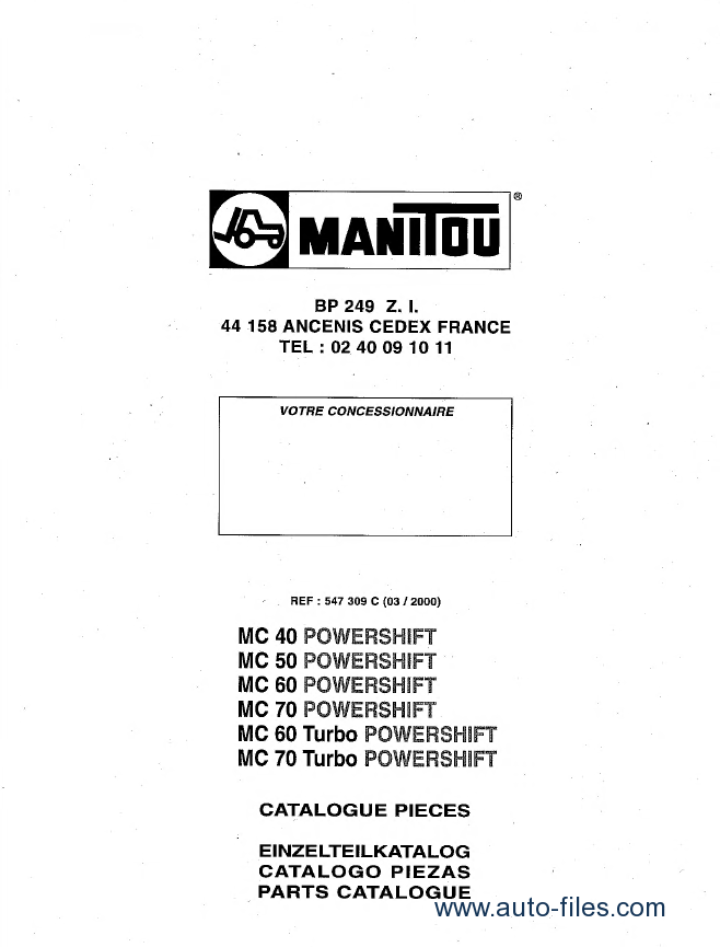manitou forklift set of pdf repair service and parts manuals