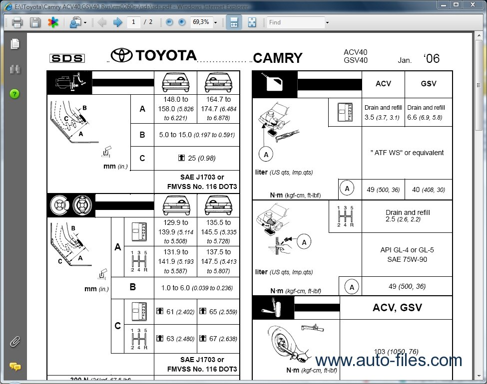 Toyota Camry Parts Catalog Auto Parts Diagrams