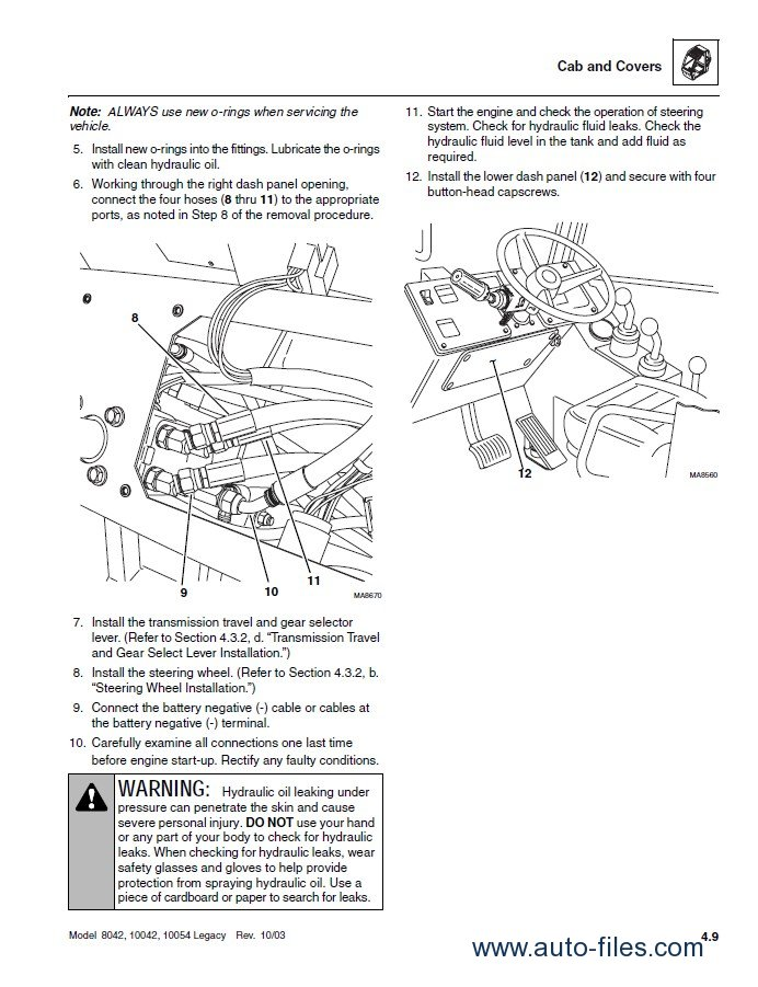 Jlg Skytrak Telehandlers Ansi Workshop Repair Manual on Circuit Breaker Panel Wiring Diagram
