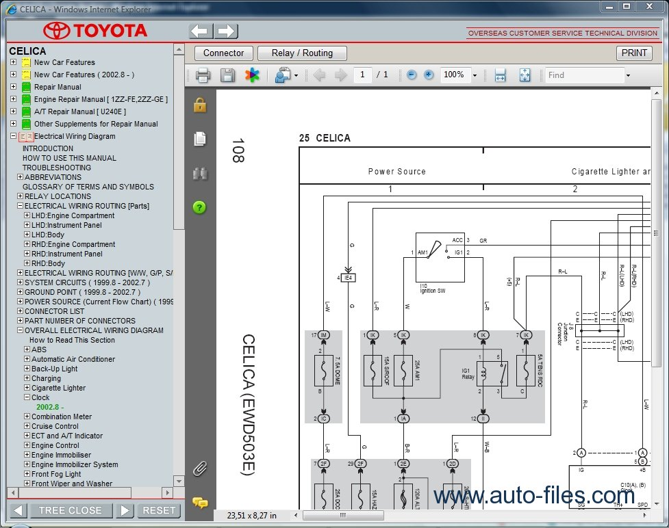 Toyota Celica  Repair Manuals Download  Wiring Diagram