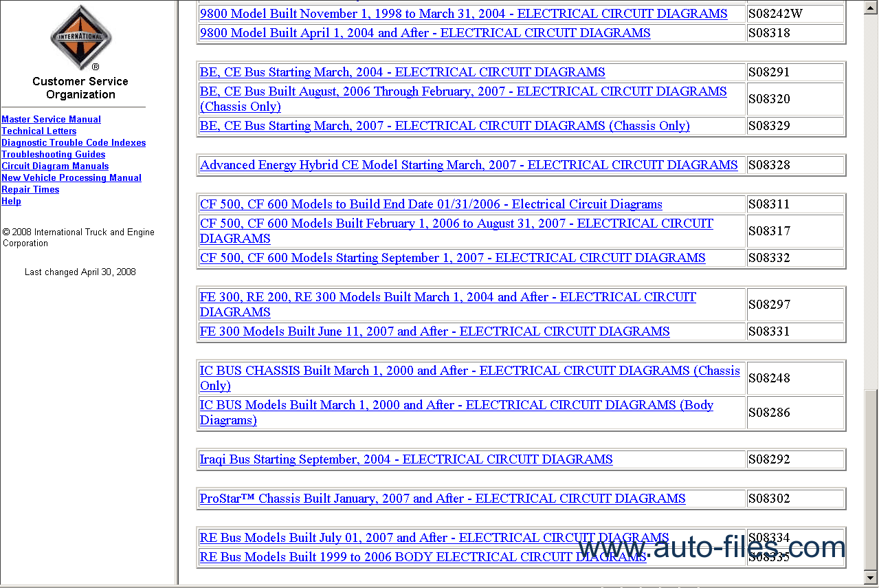 International Truck Parts Online Catalog Pictures