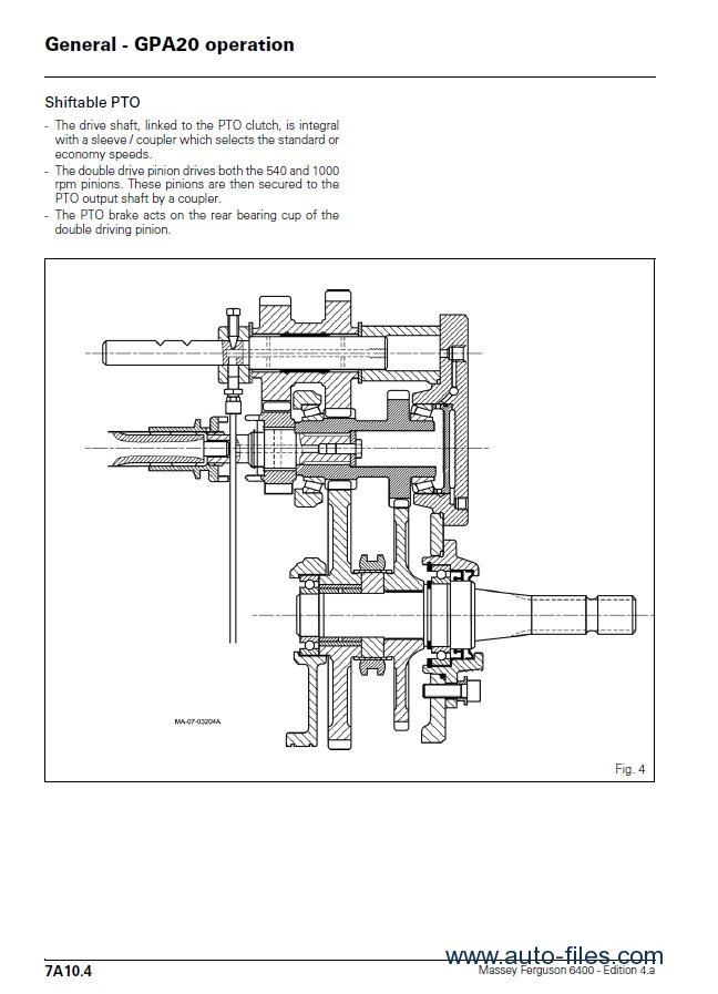 massey ferguson mf 6400 series service manual pdf