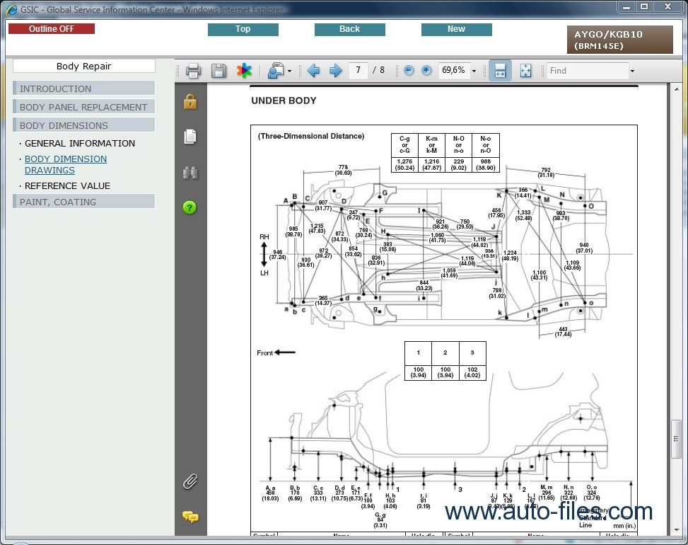 Toyota Aygo  Repair Manuals Download  Wiring Diagram