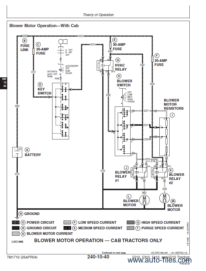 Wiring Diagram For John Deere 5105 Tractor on wiring diagram john deere lx176