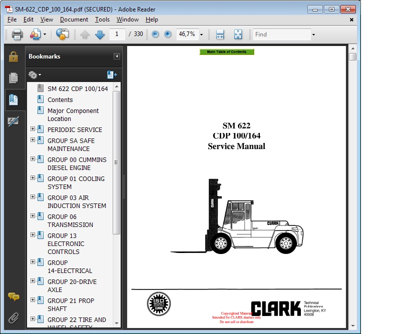 Repair Manual Cmp 30l