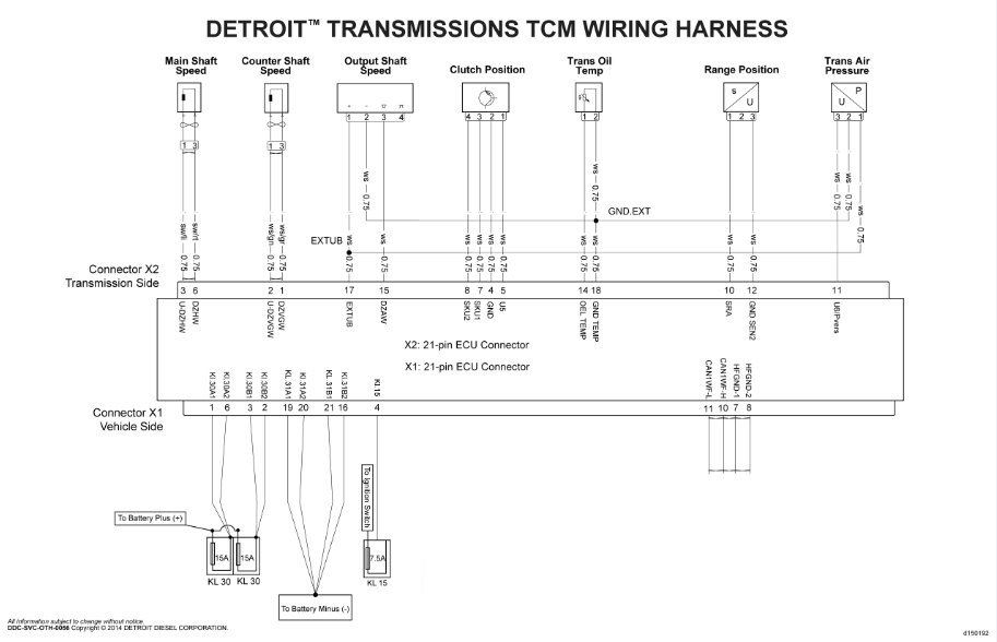 Detroit Diesel Set Of Wiring Diagrams