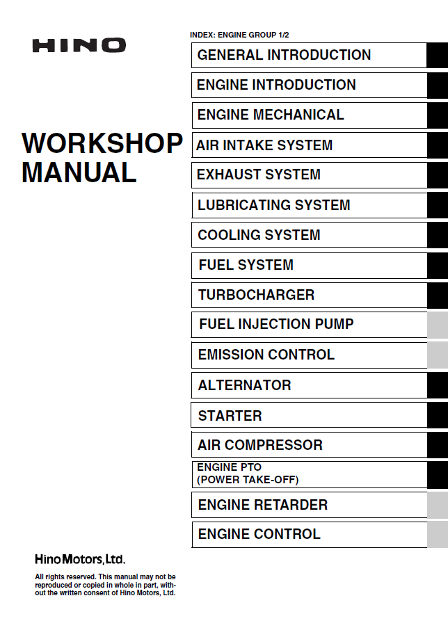 Hino Truck Workshop Manuals - Enthusiast Wiring Diagrams •