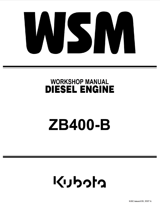 Kubota Diesel Engine Parts Manual Zb 400 28 Images
